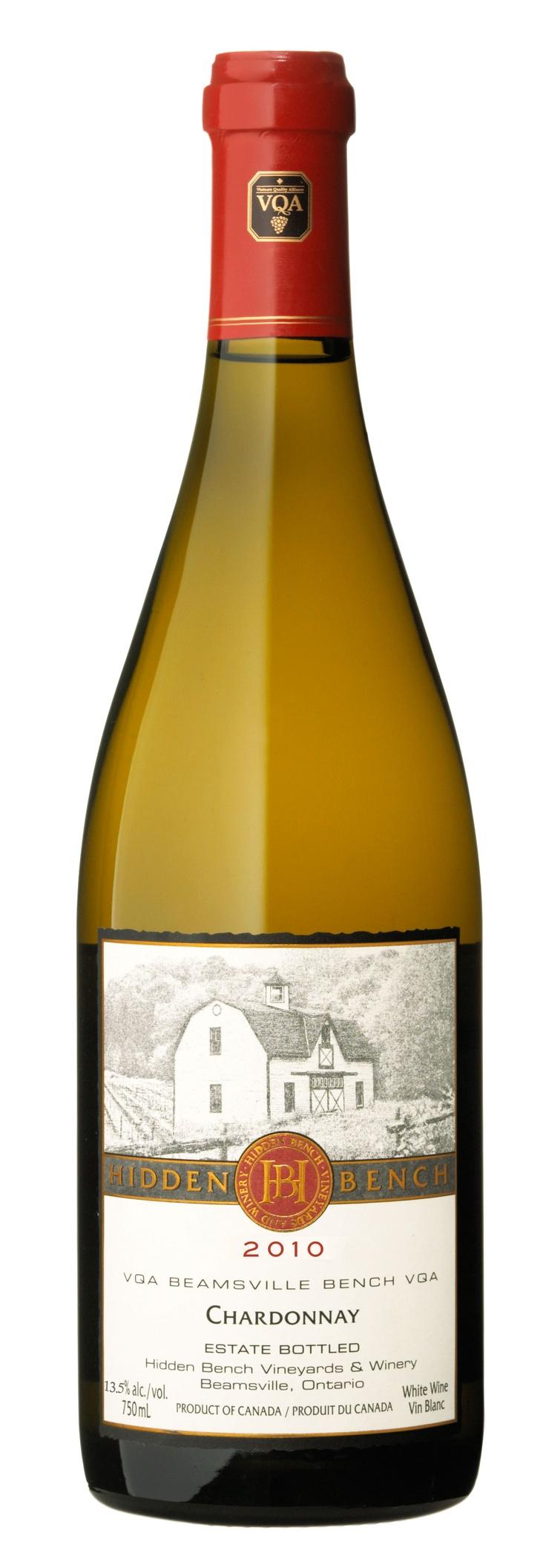 2010 Estate Bottled Chardonnay from Hidden Bench Vineyards & Winery, Beamsville, Ontario.