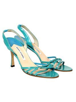 Manolo Blahnik Patent Leather Heels. 39 Turquoise Sandals. Get the must-have sandals of this season! These Manolo Blahnik Patent Leather Heels. 39 Turquoise Sandals are a top 10 member favorite on Tradesy. Save on yours before they're sold out!
