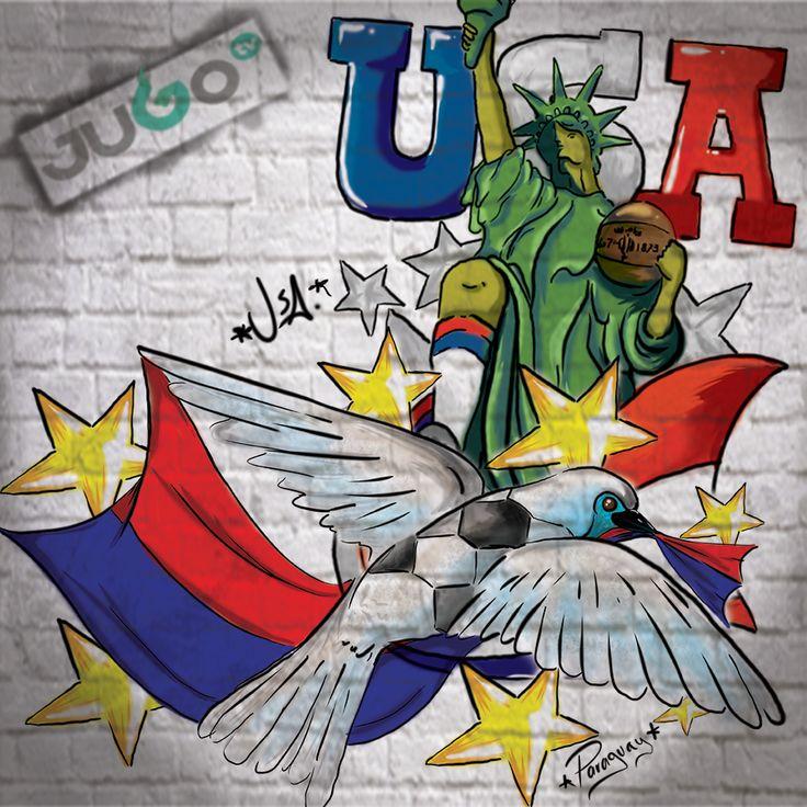 StreetArt USA Paraguay #somosJUGOtv  1 save