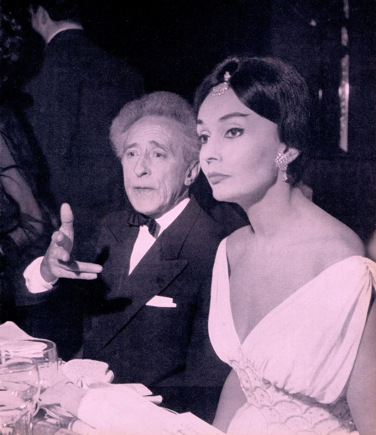 PARIS by NIGHT JEAN COCTEAU and LUDMILLA TCHERINA Photo by DANIEL FRASNAY from the book Paris Review 1961 (minkshmink)