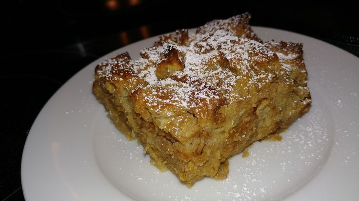Croissant Banana Bread Pudding     10 extra large croissants sliced in half the long ways, then sliced in half again the long ways, ...