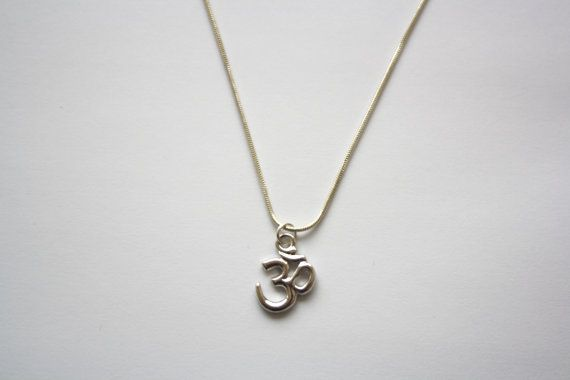 Om Necklace Ohm Charm Necklace Silver Plated by HaniaMarysia, £8.50