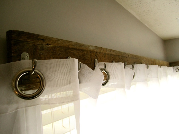 I Made These Curtain Hangers From Reclaimed Wood U0026 Utility Hooks. Easy!
