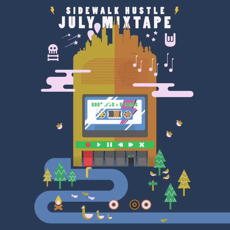 Sidewalk Hustle July 2014 Mixtape
