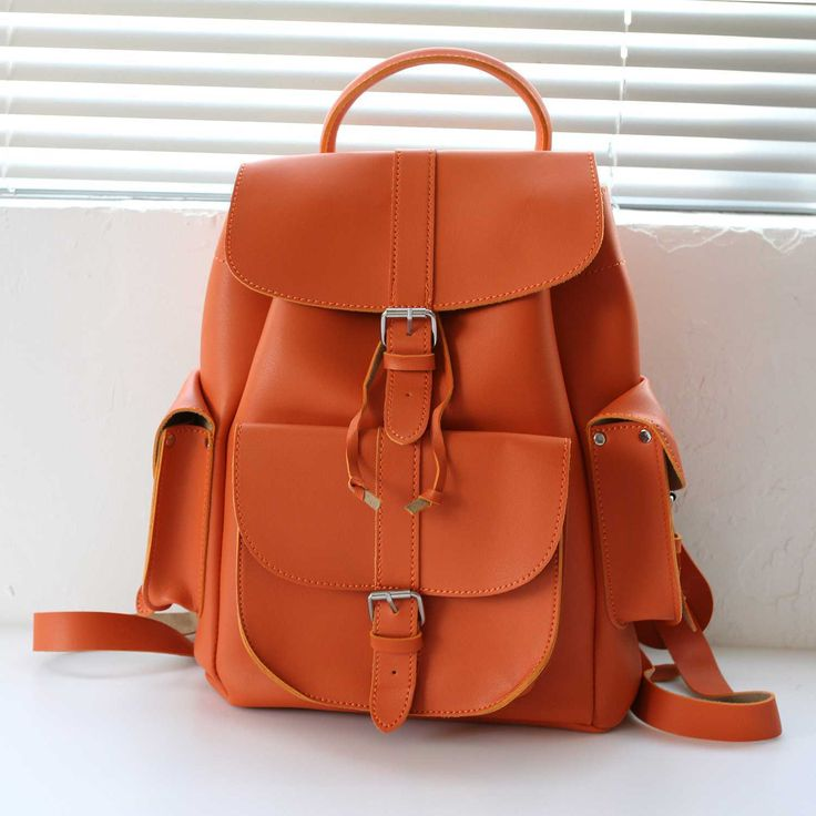 Carrot Orange backpacks awesome bagpack best school bags leather. Save.extra 20% OFF on $45+ by code SUMMER20%OFF, 3-Day Free Shipping on Amazon