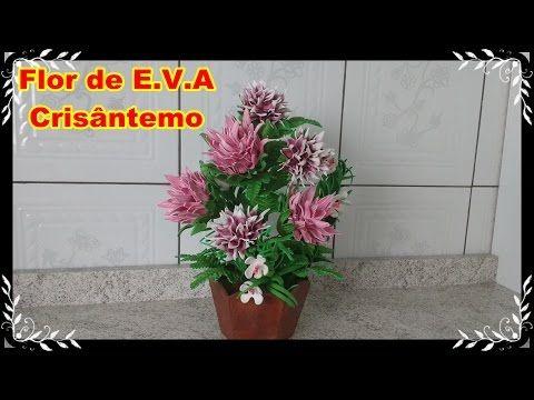Flor Crisântemo de E.V.A - YouTube