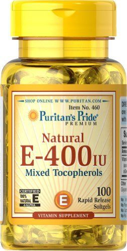 Vitamin E promotes immune function. Vitamin E is also a powerful antioxidant that helps fight cell-damaging free radicals in the body. Studies have shown that oxidative stress caused by free radicals may contribute to the premature aging of cells. ** These statements have not been evaluated by... more details at http://supplements.occupationalhealthandsafetyprofessionals.com/vitamins/vitamin-e/product-review-for-puritans-pride-vitamin-e-400-iu-mixed-tocopherols-natural-100-so