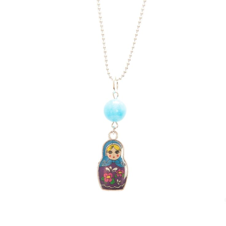 Colorful Matryoshka necklace (different colors available)
