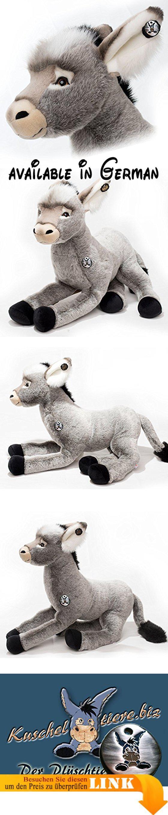 Esel PABLO Riesenesel Hausesel Schlenkertier 80 cm Plüschtier von Kuscheltiere.biz. Ausgewähltes Plüschtier der Kuscheltiere.biz Kollektion, Lieferung mit Zertifikat der Kuscheltier.biz Kollektion und silberfarbenen Esel-Igor-Metallplakette! · Qualitäts - Plüschtier aus dem Hause Plüti - Made in Germany. Der Esel ist mit zweifarbigen Glasaugen ausgestattet und als Schlenkertier mittelfest gestopft für ein aktives Spielvergnügen. Größe: ca. 80 cm. unverwechselbares,