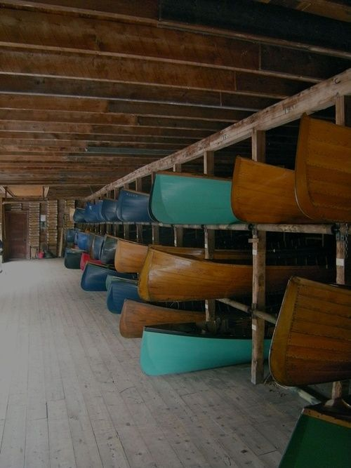 canoe storage...this is cool