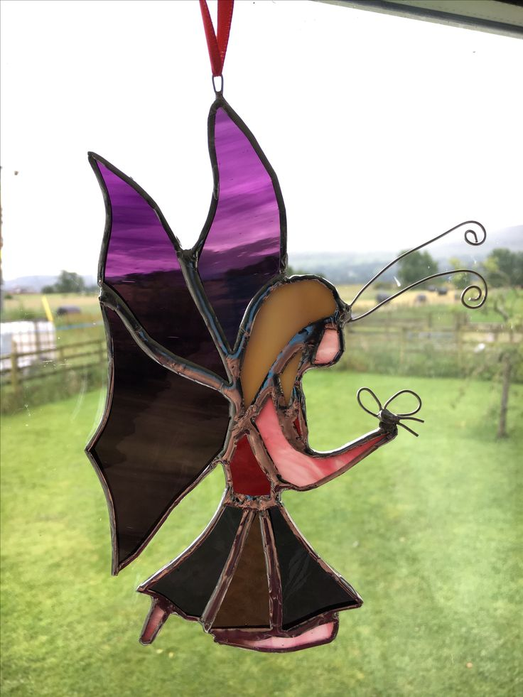 Purple stained glass fairy