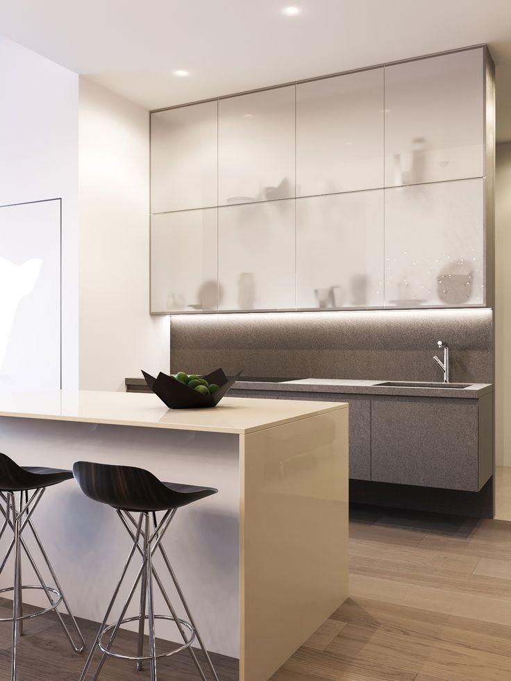 Penthouse in Moscow by Shamsudin Kerimov. Modern kitchen