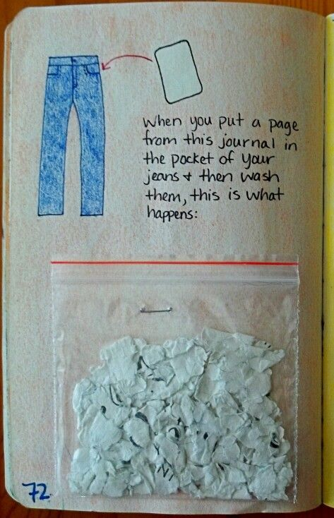 Coloca esta hoja en tu pantalón, y échalo a lavar