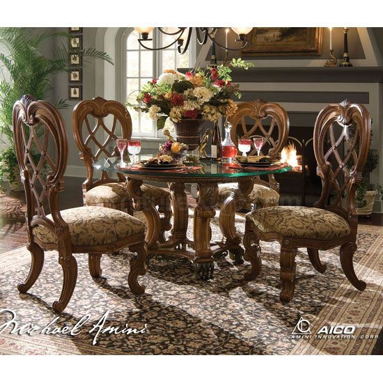 Round Formal Dining Room Tables | ... Round Dining Room Set by AICO Furniture, 68-28-ROUND-DR-SET. Furniture
