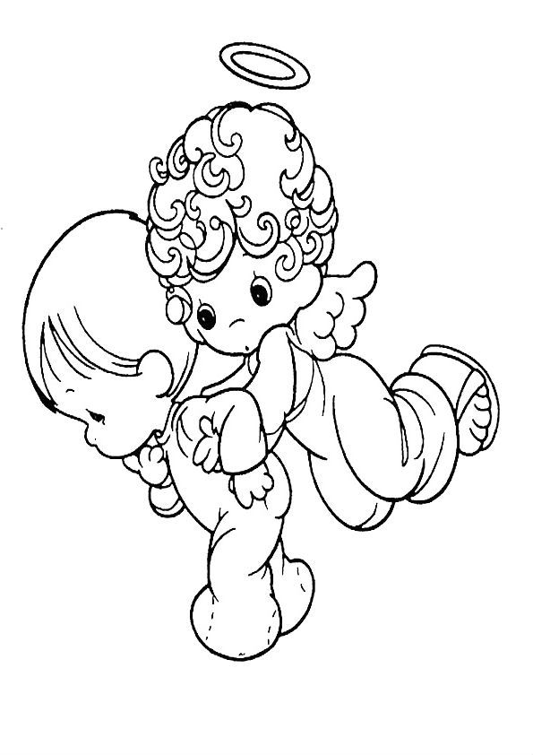 christmas boy angel coloring pages - photo#6