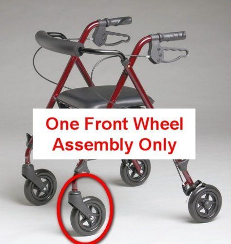 """Replacement 6"""" Front Wheel Assembly for MDS86825SLR Ultralight Rollator by Medline. $42.95"""
