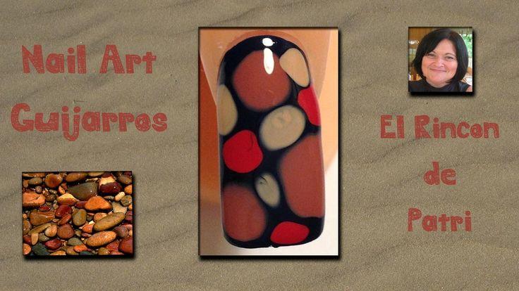 Diseño de uñas con guijarros- El rincón de Patri-  Pebbles Nail Art. Sigue todos nuestros diseños de decoración de uñas en http://www.rincondepatri.com