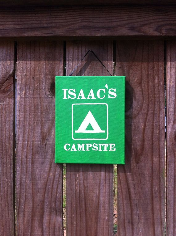 Boy's camping room sign by LillouHandmade on Etsy, $20.00