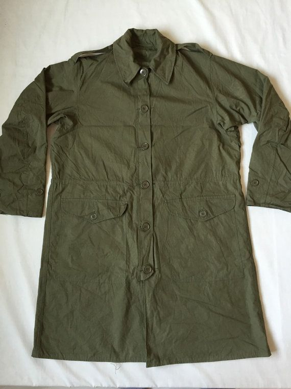 Vintage 60s British Army Military Smock Coat Longcoat