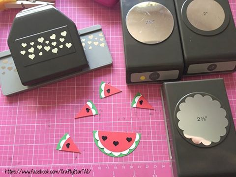 2016 WATERMELON ART using your punches Shared by Terina Sprague