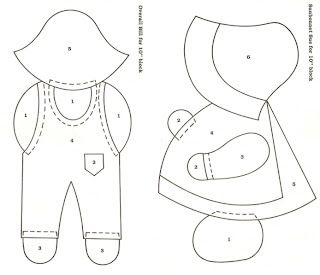 Suestreehouse: Sunbonnet Sue and Overall Sam