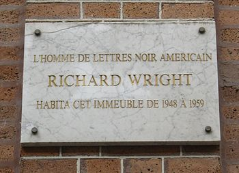 Richard Wright lived at 14, rue Monsieur-le-Prince Paris 75006.