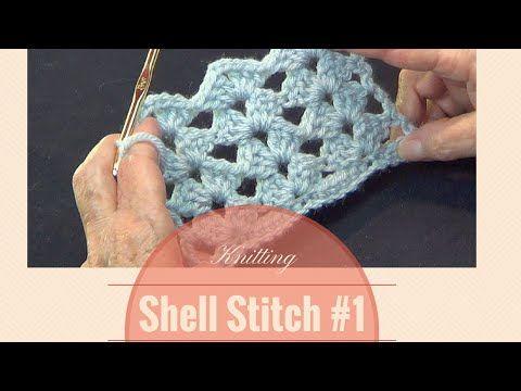 Crochet NOT Knitted Open Shell Lace Stitch Pattern
