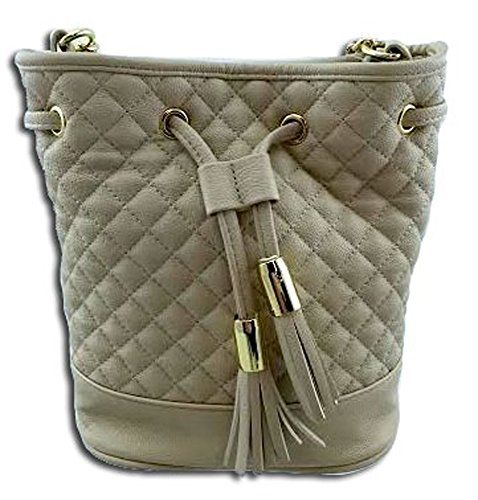 Steve Madden BBenson Drawstring Faux Leather Quilted Cream Bag *** Click image to review more details.