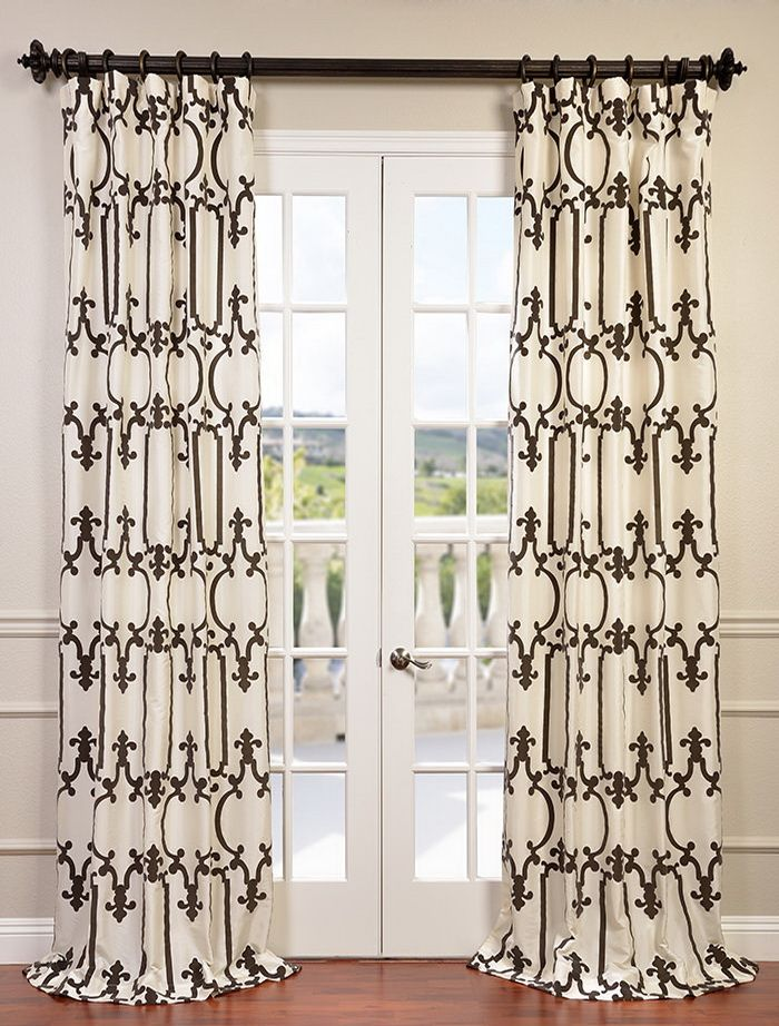 Online Best Price For Half Price Drapes Royal Gate Flocked Faux Silk  Taffeta Curtain Search For Products You Need! Buy Online Here And Save Silk  Taffeta ...