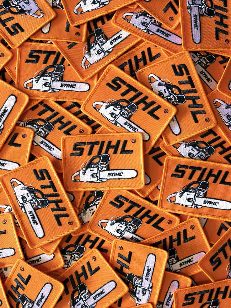 STIHL Iron on Patch in 2020 Iron on patches, Stihl, Patches