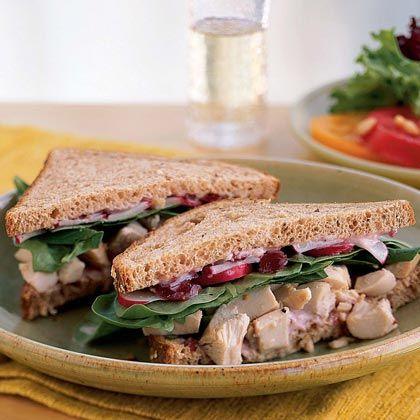 Roast Chicken and Cranberry Sandwiches   MyRecipes