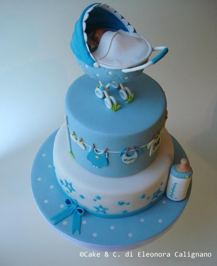 Baptism cake - Cake by Eleonora Calignano
