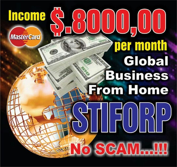 Betapa mudahnya mengerjakan bisnis Stiforp...  Bisa menghasilkan min $25 / hari...  Potensi incomenya bisa mencapai $2000-$8000/bln...  Bagi yg tidak bisa merekrut dapat limpahan (spill over)  Komisi masuk tanpa pernah pending, tanpa perlu…