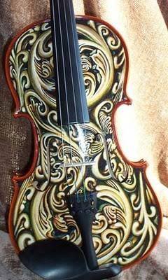 Cool violin design