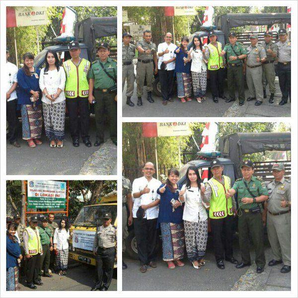 kegiatan penertiban reklame di wilayah UPPD Matraman