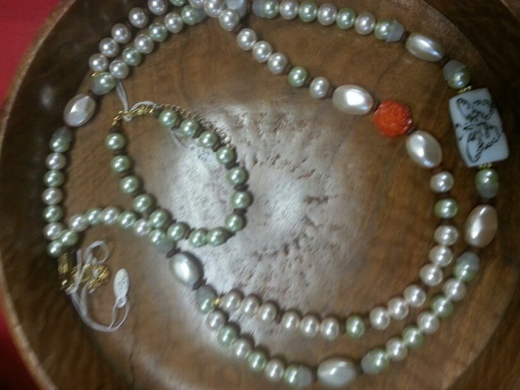 Beaded necklace and bangle