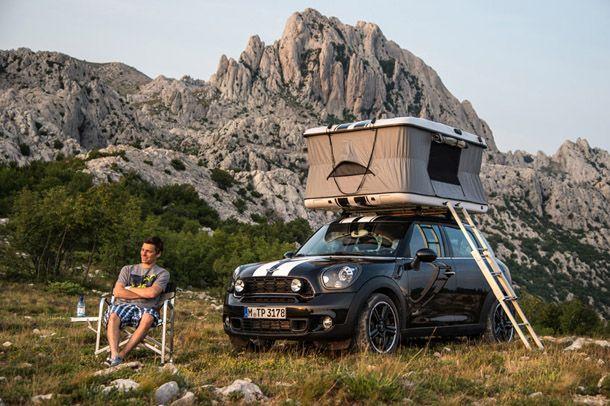 テント付き「MINI」のキャンプカー