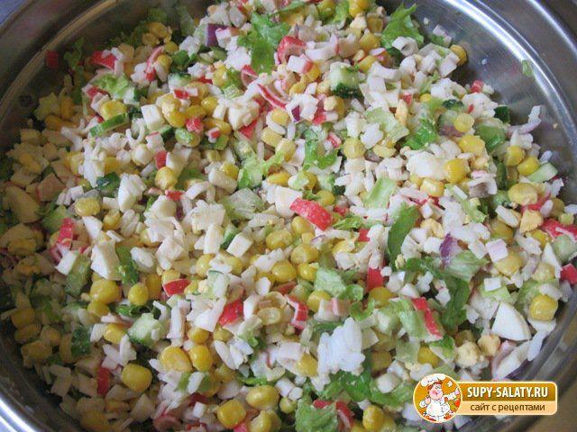 Салат хрустик калорийность