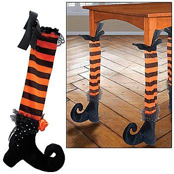 Witch Table Legs Halloween Party Decoration