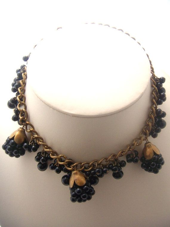 Necklace Blackberry. the mourning jewelry. England. от ODMIVINTAGE