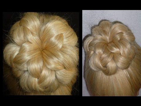 Einfache Frisuren.Flechtfrisuren mit Dutt.Zopffrisuren.Donut Hair Bun Up...