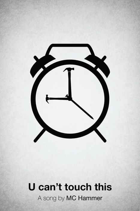 Pictogram music posters by Viktor Hertz... do you get it?? it's hammer time!