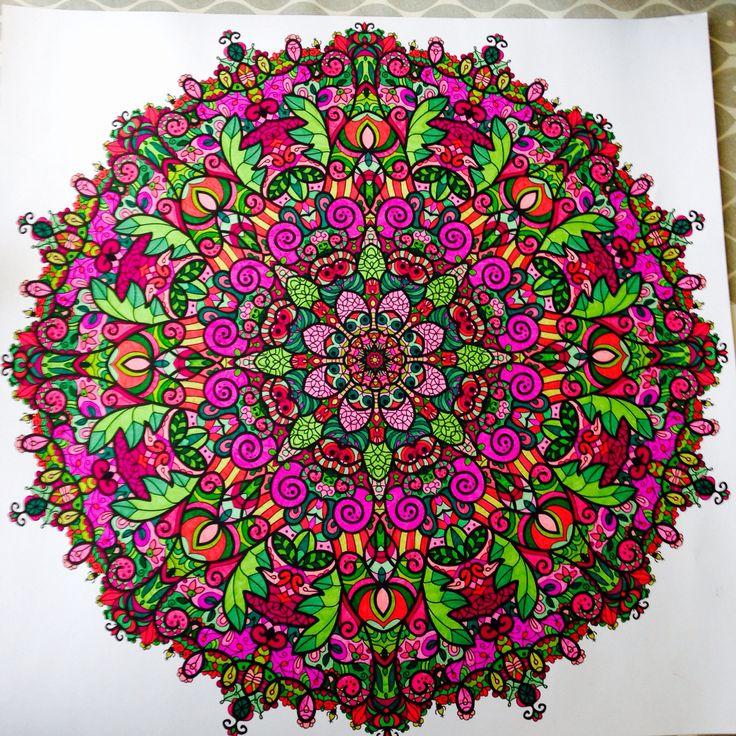 Eerste Mandala poster 60x60 Uit de paarse doos ;))