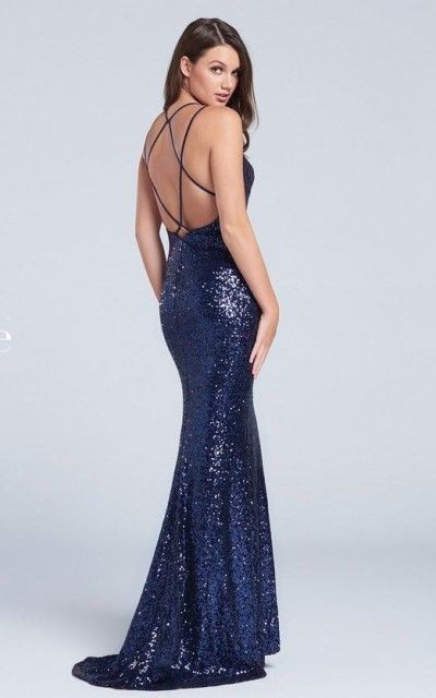 Ellie Wilde for Mon Cheri EW117115 Sequin Prom Gown- BACK VIEW