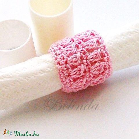 Meska - Babaszínekben - horgolt szalvétagyűrű újrafelhasznált gurigából Belinda kézművestől