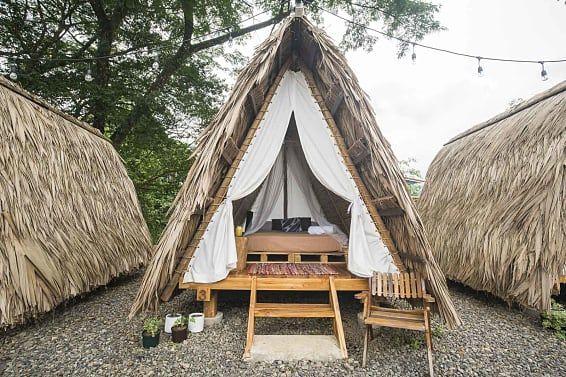 Pin By Deepak Chawla On Md Elan Resort Bamboo House Design Hut House Tent Glamping