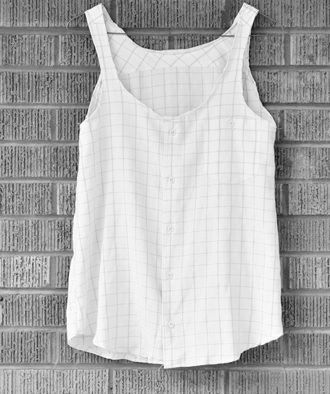 DIY Tank Top Such a great idea!  I would use bias tape for the neck and armholes, though.