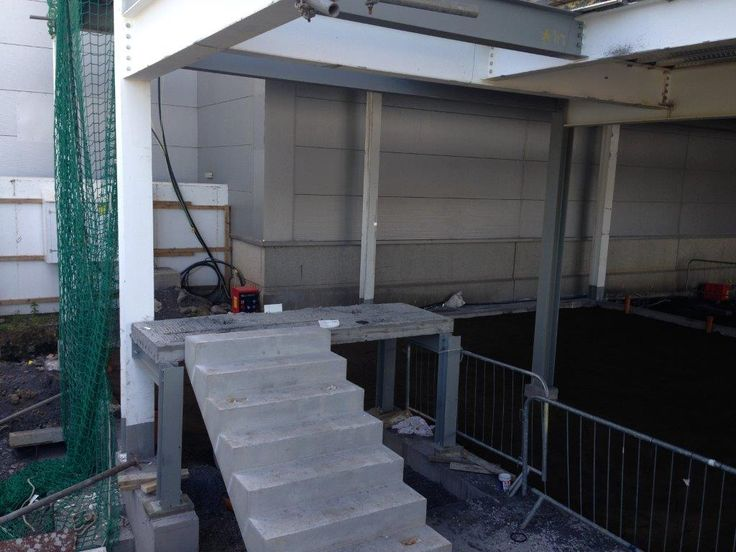 Flood Precast - Precast Stairs designed and manufactured to BS8110 Type B finish provided for West End Extension