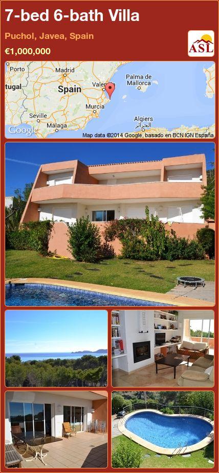 7-bed 6-bath Villa in Puchol, Javea, Spain ►€1,000,000 #PropertyForSaleInSpain