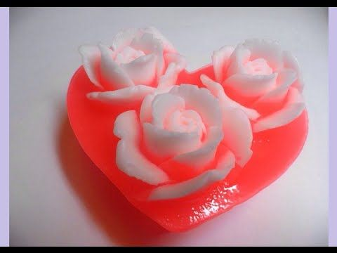 МЫЛОВАРЕНИЕ Розовое сердечко Мастер класс The Pink heart SOAP making. Master class. - YouTube
